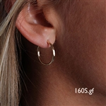 14k Gold Filled Hoop Earrings (160S.y)