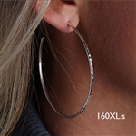 Sterling Silver Hoop Earrings (160XL.s)