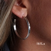 Sterling Silver Hoop Earrings (161L.s)