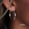 Sterling Silver Hoop Earrings (161M.s)