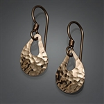 14K Gold Filled Hammered Earrings (180.y)
