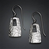 Sterling Silver Hammered Earrings (184.s)