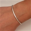 Sterling Silver Thin Hammered Cuff Bracelet (350cur.s)