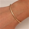 14k Yellow Gold Filled Thin Hammered Cuff Bracelet (350cur.ygf)