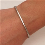 Sterling Silver Thin Hammered Cuff Bracelet (350str.s)