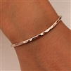14k Rose Gold Filled Thin Hammered Cuff Bracelet (351.rgf)