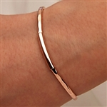 14k Rose Gold Filled Thin Hammered Cuff Bracelet (351TH.rr)
