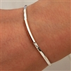 14k Rose Gold Filled and Sterling Silver Thin Hammered Cuff Bracelet (351TH.rs)