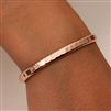 14k Rose Gold Filled Thick Hammered Cuff Bracelet (352.rgf)