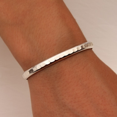e6fe09b9df3 Handcrafted Sterling Silver Thick Cuff Bracelet from David Smallcombe –  Hammered Cuff Bracelet