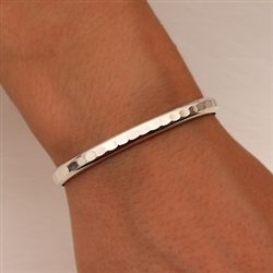 Sterling Silver Thick Hammered Cuff Bracelet (352.s)
