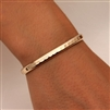 14k Yellow Gold Filled Thick Hammered Cuff Bracelet (352.ygf)