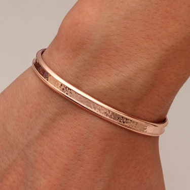 14k Rose Gold Filled Thick Cuff Bracelet 353 Rgf