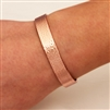 14K Rose Gold Filled Wide Hammered Cuff Bracelet (354.rgf)