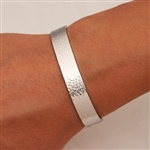 Sterling Silver Wide Hammered Cuff Bracelet (354.s)