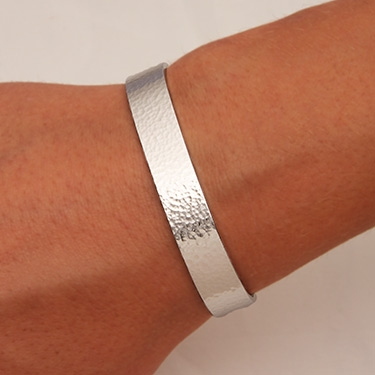 5d095acfeb0 Handcrafted Sterling Silver Wide Cuff Bracelet from David Smallcombe –  Hammered Cuff Bracelet