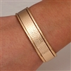 14K Gold Filled Hammered Cuff Bracelets (354.ygf.350str.ygf.3)
