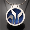 Sterling Silver and Niobium Pendant (410L.sn)