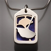 Sterling Silver, 14k Bi-Metal and Niobium Pendant (412S.sbn)