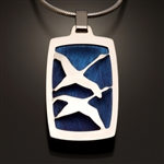 Sterling Silver and Niobium Pendant (413S.sn)