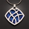 Sterling Silver and Niobium Pendant (416.sn)