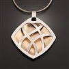 Sterling Silver and 14k Bi-Metal Pendant (416S.sb)