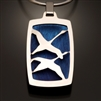 Sterling Silver and Niobium Pendant (417SW.sn)