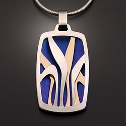 Sterling Silver, 14k yellow gold-filled and Niobium Pendant (419.syn)