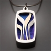 Sterling Silver, 14k Bi-Metal and Niobium Pendant (419S.sbn)