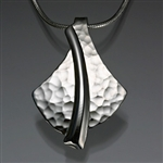Sterling Silver Hammered Pendant (426H.s)