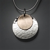 Sterling Silver and 14k Bi-Metal Pendant (450.bs)