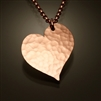 14K Rose Gold Filled Hammered Heart Pendant (451.r)