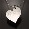 Sterling Silver Hammered Heart Pendant (451.s)