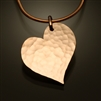 14K Gold Filled Hammered Heart Pendant (451.y)