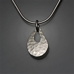 Sterling Silver Hammered Pendant (480.s)