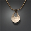 14k Gold Filled Hammered Pendant (480.y)