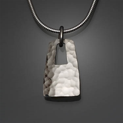 Sterling Silver Hammered Pendant (484.s)