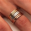 Sterling Silver, 14K Rose and Yellow Gold Filled Ring Set (551.y.r.s.3)