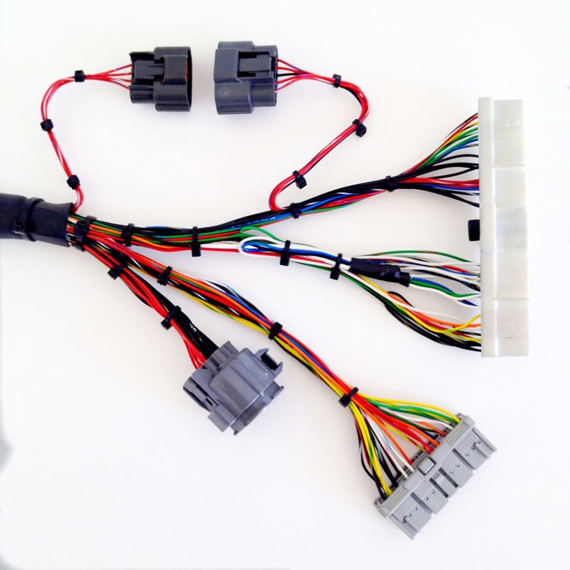 Rywire.com - Nissan S13 SR20DET harness on cable loom, carpet loom, crazy loom, wood loom,