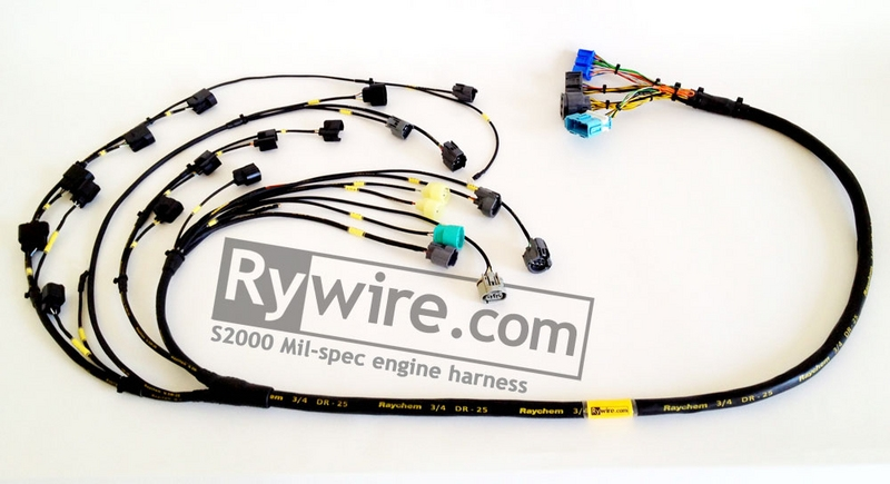 rywire com mil spec tucked s2000 harness rh rywire com Wiring Harness Diagram Engine Wiring Harness