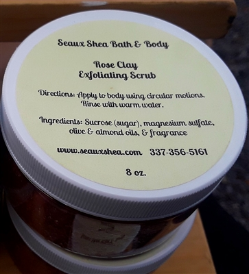 Rose Clay Scrub