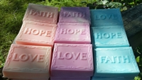 Faith, Hope, & Love Soap Set (3 bars)