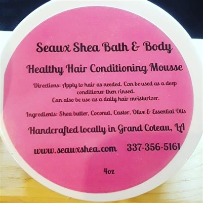 Healthy Hair Conditioning Mousse 4oz.