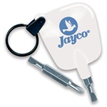 Reversible Key Tag Pocket Screwdriver with Optional Key Ring
