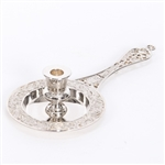 SILVERPLATED BISHOP  BUSIA CANDLE TRAY