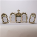 CCG-115   BRASS ROUND TOP   LATIN MASS CARD SET