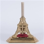 CCG-121BS   TRADITIONAL BRASS ALTAR PROCESSIONAL BASE STAND