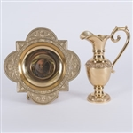 CCG-158B    BRASS EWER AND BASIN