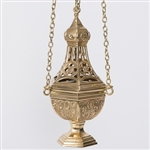 CCG-212 TRADITIONAL  BRASS CENSER