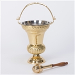 CCG-266 Holy Water Bucket & Sprinkler set, Aspergillum & Aspergil